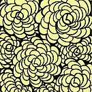 Hand-Drawn Pattern | Light Yellow Doodle Pattern (Black Lines) by coloringiship