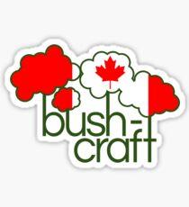 Bushcraft Canada flag Sticker