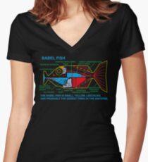 NDVH Babel Fish H2G2 Shirt mit V-Ausschnitt
