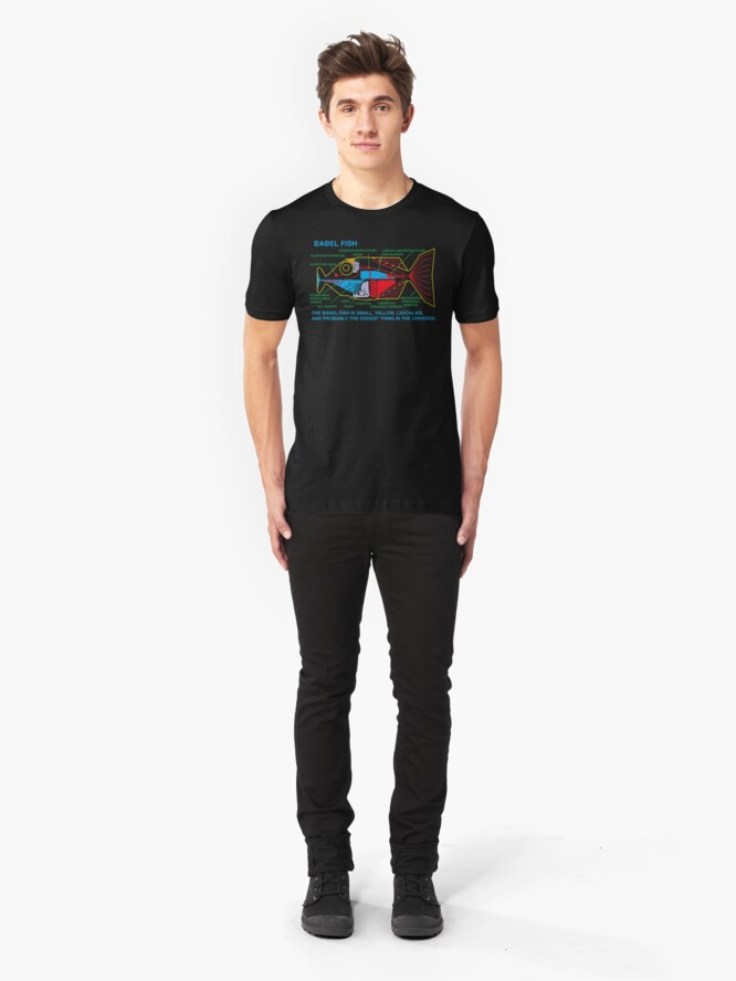 Alternate view of NDVH Babel Fish H2G2 Slim Fit T-Shirt