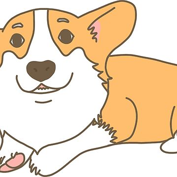 Cute Funny Corgi Dog Smiling by CarlosAlberto