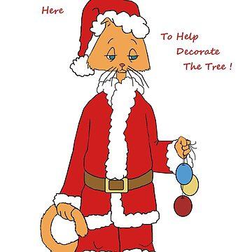 Christmas Kitty Helper by redqueenself