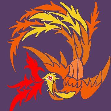 Phoenix on fire by redqueenself