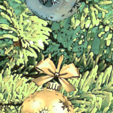 Christmas Ornaments With Pine Tree by thunderteam79
