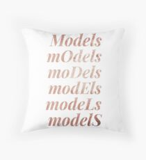 models typography - rose gold Throw Pillow