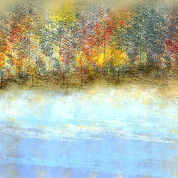 Autumn by the Lake, Fall Landscape by Jessielee72