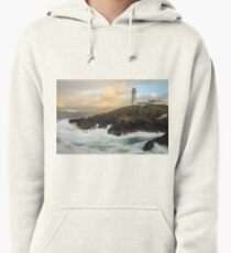 Choppy Seas At Fanad Lighthouse Pullover Hoodie