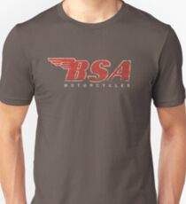 BSA Motorcycle Distressed Design Logo T Shirt Slim Fit T-Shirt