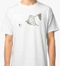Butterfly Chasing Man With Large Net Classic T-Shirt