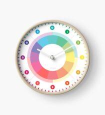 Wanduhr Designuhr Arbeitszimmeruhr Regenbogenfarbe Bunt Minimalistisch 12 Stunden-Anzeige Uhr