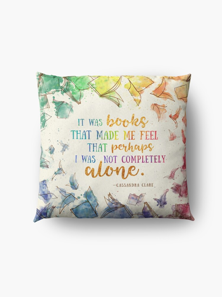 Alternate view of It was books Floor Pillow