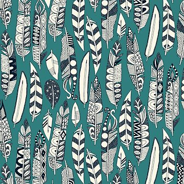 joyful feathers teal by scrummy