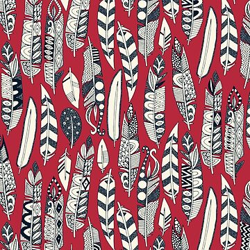joyful feathers red by scrummy