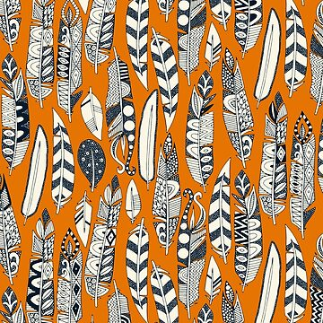 joyful feathers orange by scrummy