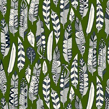 joyful feathers green by scrummy