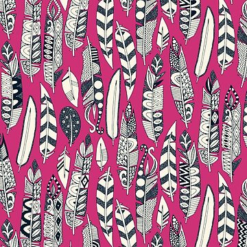 joyful feathers pink by scrummy