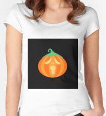 #23 Scream Pumpkin Camiseta entallada de cuello redondo