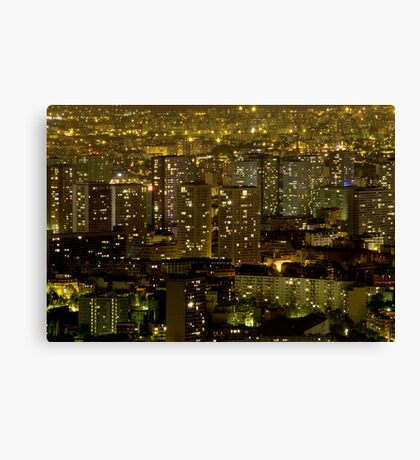 France - Paris 75014 - By night Canvas Print