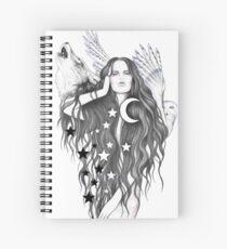 Moon Witch Spiral Notebook