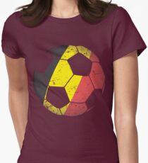 Belgium Soccer Ball Flag Jersey Art - Belgian Football Women s Fitted T- Shirt e31dda003