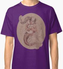 Mermaid avec son animal de compagnie Merbunny T-shirt classique