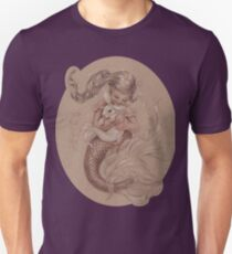 Mermaid with her pet Merbunny  Unisex T-Shirt