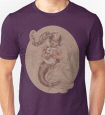 Mermaid mit ihrem Haustier Merbunny Unisex T-Shirt