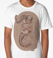 Mermaid avec son animal de compagnie Merbunny T-shirt long
