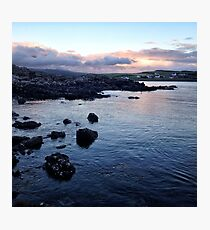 Sunset across the coastline near Ullinish on the west coast of Skye Photographic Print
