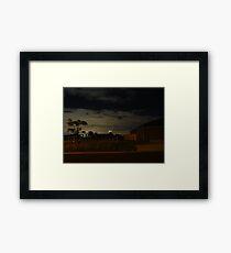 Quiet Suburb at Night Framed Print