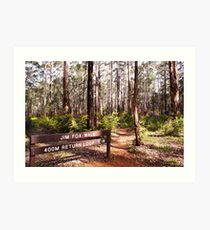 Diamond Tree Forest Art Print