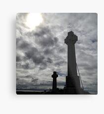 Celtic crosses in a graveyard at Kilmuir, Isle of Skye Metal Print