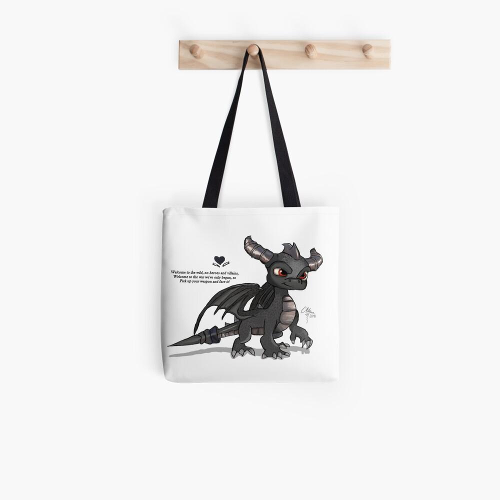 Dunkler Spyro Stofftasche