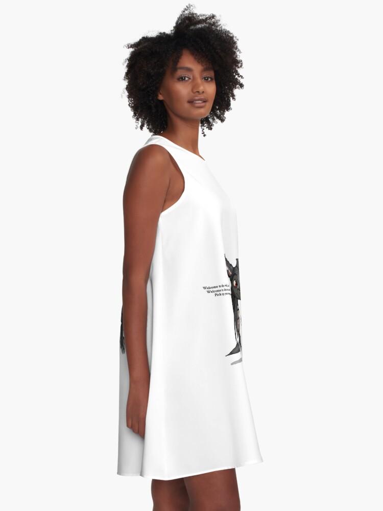 Alternative Ansicht von Dunkler Spyro A-Linien Kleid