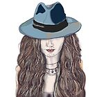 portrait of a women in a hat by jackpoint23
