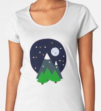 Snowy Night Women's Premium T-Shirt