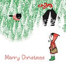 Merry Christmas - Red Riding Hood by Sally Barnett