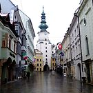 Bratislava Old City Centre In January by mcworldent