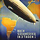 Graf Zeppelin to South America,1937  by edsimoneit