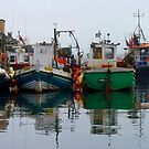 Fishing Boats In Scarborough Harbour by mcworldent
