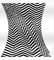 Bridget Riley Op-art zig-zag Poster
