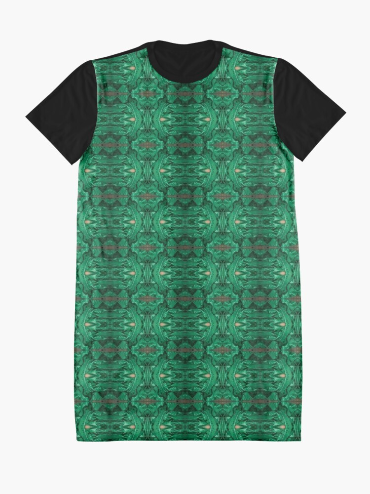 Alternate view of #pattern #wallpaper #texture #vintage #abstract #floral #seamless #retro #damask #design #art #decoration #fabric #old #decor #textile #paper #antique #backdrop #flower #decorative #wall #ornament Graphic T-Shirt Dress