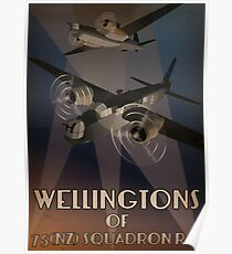 Wellingtons of 75NZ Squadron RAF (period illustration) Poster