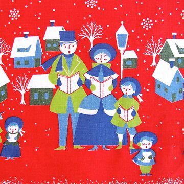 Vintage Christmas Carolers  by collageDP
