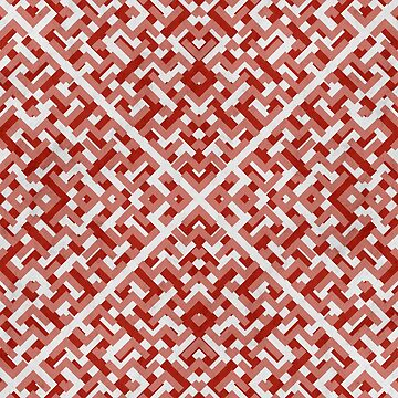 Ruby Maze Geometric Pattern   by tobiasfonseca