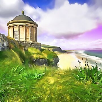 Mussenden Temple, Ireland. (Painting) by cmphotographs