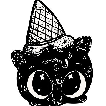 Halloween Ice Cream Cat by fluffymafi