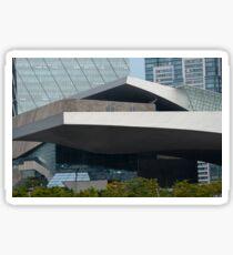 Busan Cinema Centre on banks of river Suyoung, Centum City, Busan, South Korea Sticker