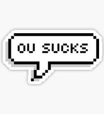OU Sucks Pixel Bubble Sticker