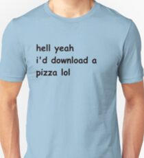 Hell Yeah Pizza Slim Fit T-Shirt
